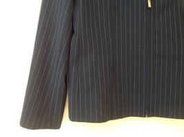 Navy Blue Pinstriped Pant Suit Rafaella Petites Jacket and Pants Size 4P image 3