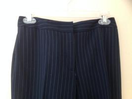 Navy Blue Pinstriped Pant Suit Rafaella Petites Jacket and Pants Size 4P image 6