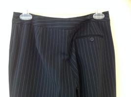 Navy Blue Pinstriped Pant Suit Rafaella Petites Jacket and Pants Size 4P image 9