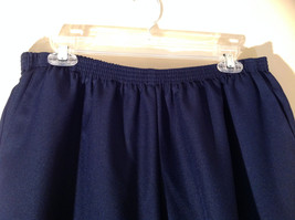 Navy Elastic Waistband Casual Pants by Alfred Dunner 2 Pockets Size 18W image 4