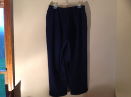 Navy Elastic Waistband Casual Pants by Alfred Dunner 2 Pockets Size 18W image 6