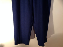 Navy Elastic Waistband Casual Pants by Alfred Dunner 2 Pockets Size 18W image 3