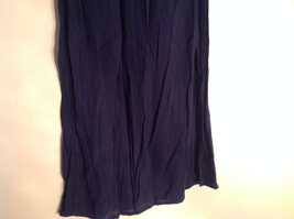 Navy Scrunched Style Maxi Skirt Cute Slit up Side of Front NY and Co Size S image 4