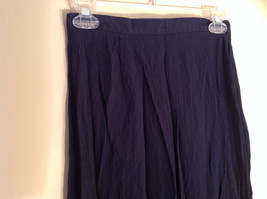 Navy Scrunched Style Maxi Skirt Cute Slit up Side of Front NY and Co Size S image 2