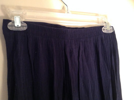 Navy Scrunched Style Maxi Skirt Cute Slit up Side of Front NY and Co Size S image 5