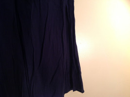 Navy Scrunched Style Maxi Skirt Cute Slit up Side of Front NY and Co Size S image 3