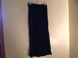 Navy Scrunched Style Maxi Skirt Cute Slit up Side of Front NY and Co Size S image 6
