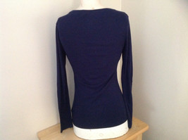Navy Scoop Neck Long Sleeve Old Navy Shirt Made in Indonesia Size Medium image 5