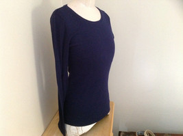 Navy Scoop Neck Long Sleeve Old Navy Shirt Made in Indonesia Size Medium image 2