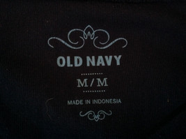 Navy Scoop Neck Long Sleeve Old Navy Shirt Made in Indonesia Size Medium image 6