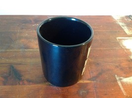 New Black Ceramic Comical Coffee Mug Work With Me People in White Letters image 3