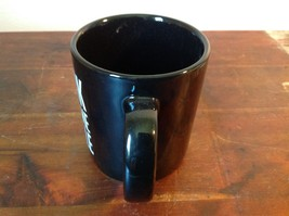 New Black Ceramic Comical Coffee Mug Work With Me People in White Letters image 5