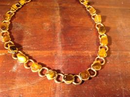 Necklace and Bracelet Set Cats Eye Gold Tone Setting image 4