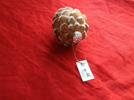 New Melrose Glass Pinecone Ornament Snow on Tips -  4 Inches High Brown Lt or Dk image 4