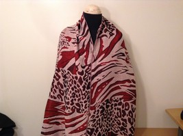 New Long Scarf Shawl w Leopard print  in choice of color image 2