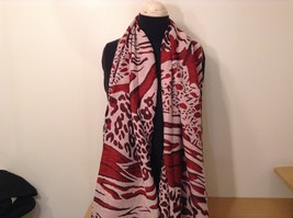 New Long Scarf Shawl w Leopard print  in choice of color image 3