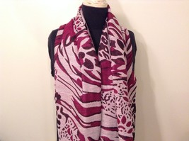 New Long Scarf Shawl w Leopard print  in choice of color image 8
