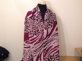 New Long Scarf Shawl w Leopard print  in choice of color image 7