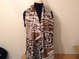 New Long Scarf Shawl w Leopard print  in choice of color image 13