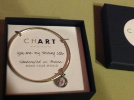 New Pewter hand made bangle bracelet You are My Shining Star charm image 3