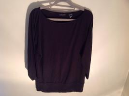 New York Company Long Sleeve Black Scooped Neckline Stretchy Size Medium image 3