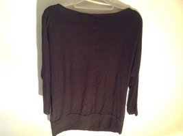 New York Company Long Sleeve Black Scooped Neckline Stretchy Size Medium image 5