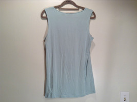 New York and Company Size S Sleeveless Tank Top Light Blue Green Graphic Front image 4