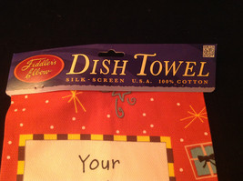 New Your Friendship is a Present I Open Everyday Kitchen Christmas Towel image 3