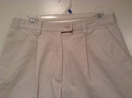 New York and Company NY Khakis 100% Cotton Light Tan Casual Shorts Size 12 image 2