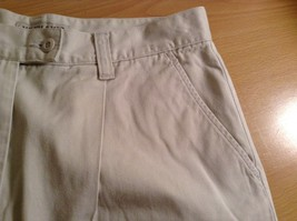 New York and Company NY Khakis 100% Cotton Light Tan Casual Shorts Size 12 image 6