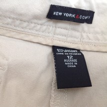 New York and Company Tan Casual Pants Size 12 Average Five Pockets image 3