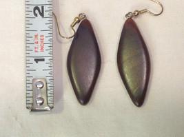 New w tags natural dark wood grained earrings Ukraine image 3