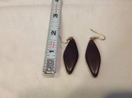 New w tags natural dark wood grained earrings Ukraine image 4