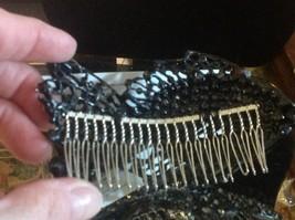 New hematite and crystal hand made designer FISH hair comb image 2