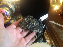 New hematite and crystal hand made designer FISH hair comb image 6