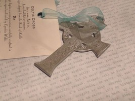NWT Pewter hand made Celtic cross hanging wall ornament small Cynthia Webb image 3