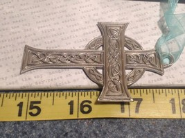 NWT Pewter hand made Celtic cross hanging wall ornament small Cynthia Webb image 6