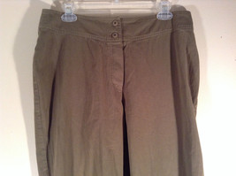 Newport News Easy Style 100 Percent Cotton Size 12 Olive Colored Pants image 2