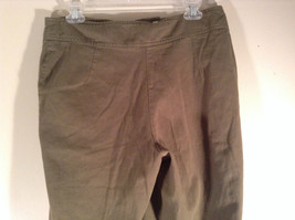 Newport News Easy Style 100 Percent Cotton Size 12 Olive Colored Pants image 6