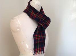 Nice Black Red Green Plaid Cashmere and Wool Scarf Simpson Piccadilly image 2