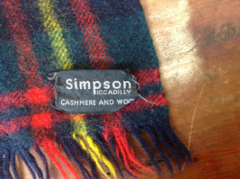 Nice Black Red Green Plaid Cashmere and Wool Scarf Simpson Piccadilly image 5