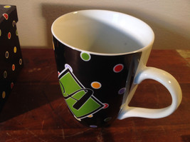 Nicole Brayden Ceramic Mug Large Letter choice Colorful Polka Dots New in Box image 4