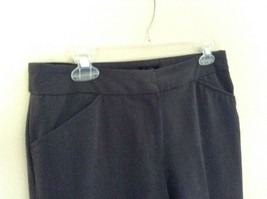 Nicole Miller New York Dark Gray Dress Pants Size 8 Zipper and Clasp Closure image 5