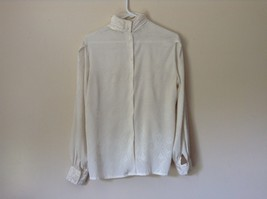 Nilani Vintage Off White Blouse 100 Percent Polyester Button Up Size 12 image 4