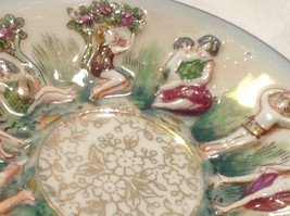 Occupied Japan hand painted tea cup and saucer  small demitasse image 8