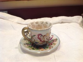 Occupied Japan hand painted tea cup and saucer  small demitasse image 12