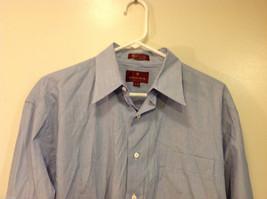 Nordstrom Light Blue Tiny Stripes Long Sleeve Shirt, Size 16/35, 100% cotton image 3
