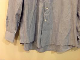 Nordstrom Light Blue Tiny Stripes Long Sleeve Shirt, Size 16/35, 100% cotton image 5