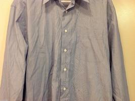 Nordstrom Light Blue Tiny Stripes Long Sleeve Shirt, Size 16/35, 100% cotton image 4