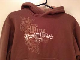 OPI Girl Wine Colored Hooded Sweatshirt Thousand Island Winery Size Medium image 3